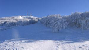 Vista della principale pista da sci del Monte Nerone